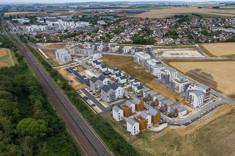 Frais-Lieux Ecoquartier Louvres Puiseux drone