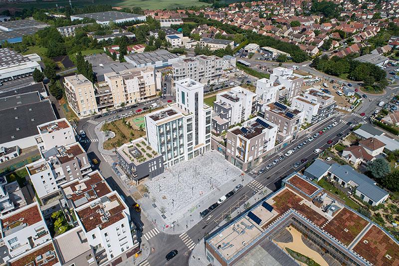 Quartier Gare Ecoquartier Louvres Puiseux drone