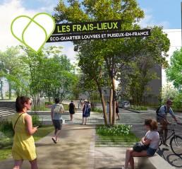 Le quartier des Frais-Lieux écoquartier Louvres Puiseux-en-France